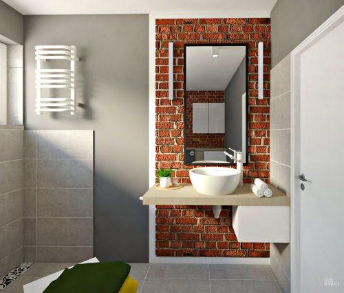 Łazienka – Z cegłą w duecie