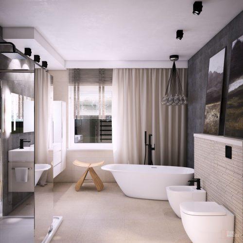 Łazienka – Z czarnymi dekorami