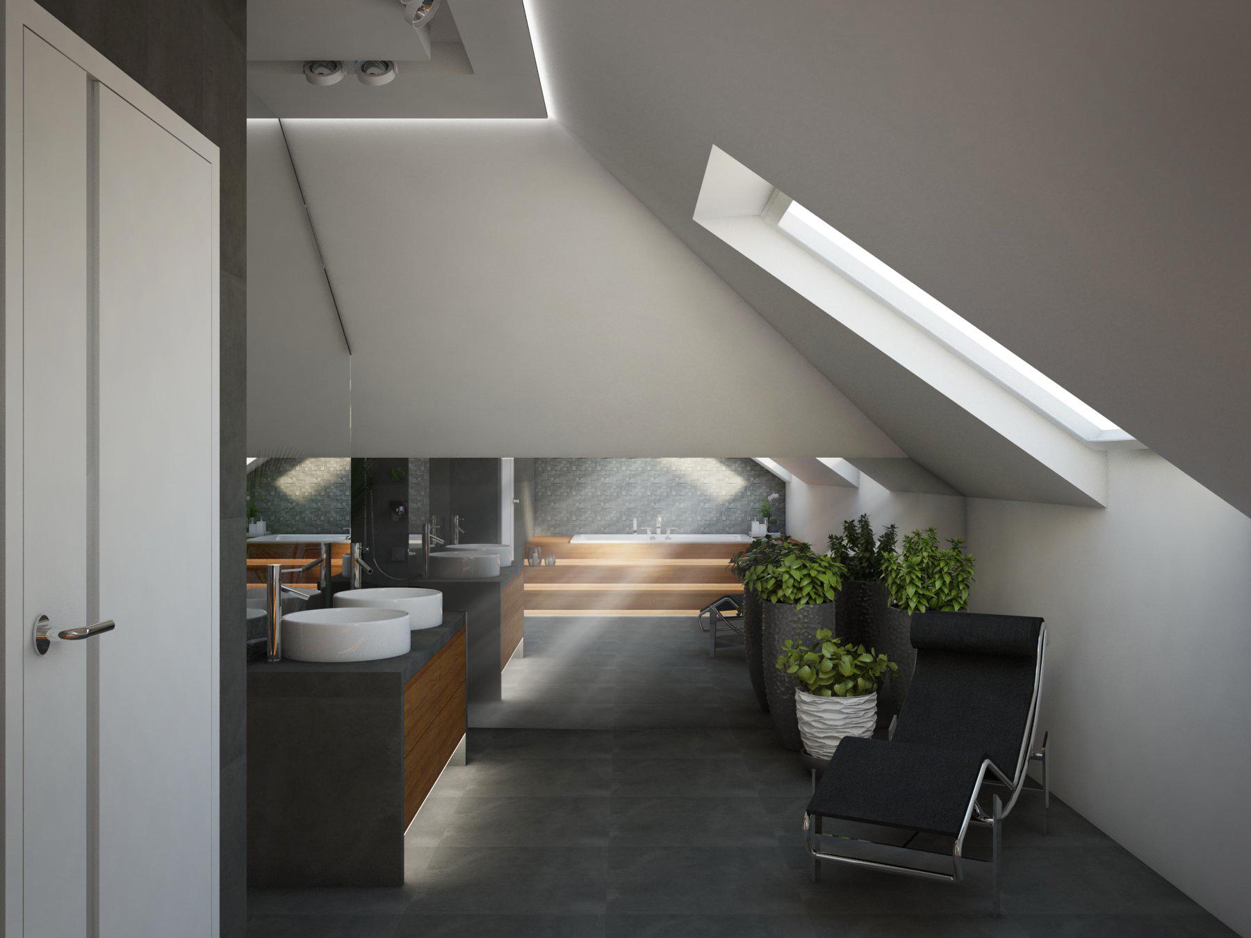 Łazienka – CIEMNY POKÓJ KĄPIELOWY