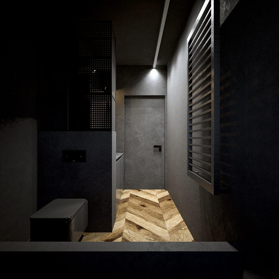 Łazienka – W czerni